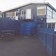 The container at the Eastern side of the RCYC which was to be our base for 2.5 years