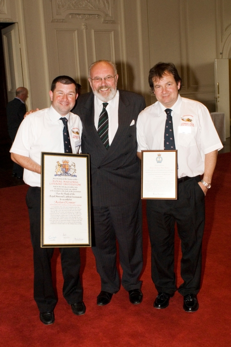 Awardees from Crosshaven with Senator David Norris at the RNLI Awards Ceremony at The Royal Hospital Kilmainham 26 May 2007