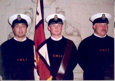 Ritchie Kelliher, Alan Venner and Marc Groves representing the RNLI at the Service for Seafarers in St. Paul's Cathederal.