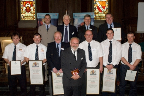 Vellum Awardees with Senator David Norris at the RNLI Ireland Awards Ceremony at The Royal Hospital Kilmainham 26 May 2007